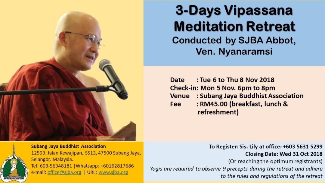 Vipassana Meditation Retreat   SJBA